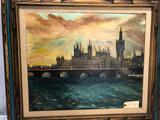 1971 Oil on Canvas Vern Olson Omaha Artist and Director of UPRR 28
