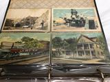 Vintage Album Containing Numerous Old Post Cards from Around the USA