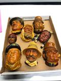 8 Vintage Hanging Heads some Bossons