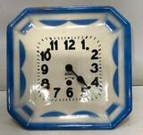 Porcelain Kitchen Clock Made in USA, Missing pendulum & minute hands, 9