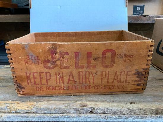Wooden Jell-o Crate