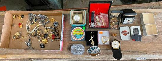Fossil Watch, Vintage and Costume Jewelry, Belt Buckles