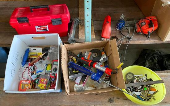 Tools and Hardware, Jig Saw, Hedge Trimmer, Small Air Pump