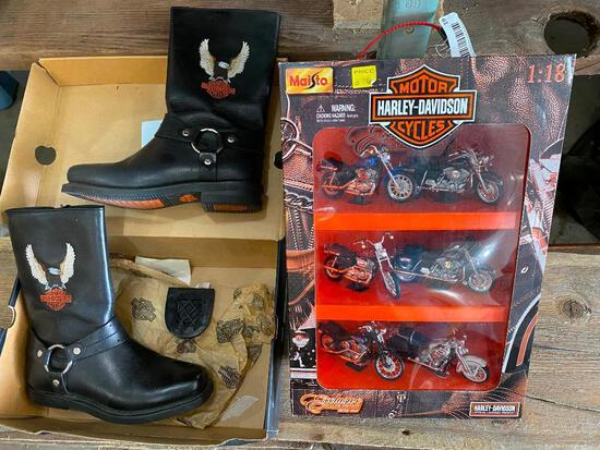 Harley-Davidson Toys, Harley Boots (One Heel Fell Off, Size 8 M