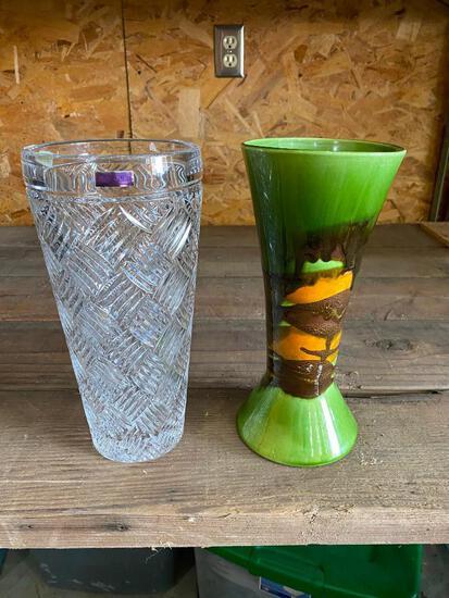 Marquis Waterford Vase, Bowl, Lead Crystal, Royal Haeger Vase