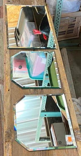 Lot of 3 Mirror Displays, Great for in Showcases