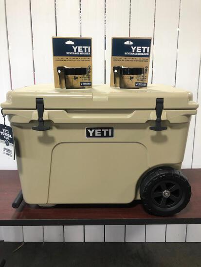 YETI Tundra Haul - Tan w/2 YETI Tundra Beverage Holders