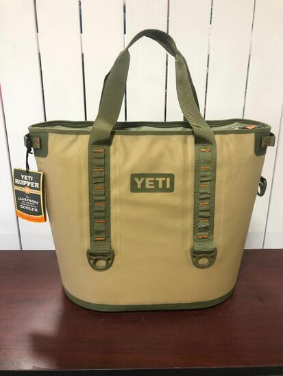 YETI Hopper 40 - Field Tan/Blaze Orange