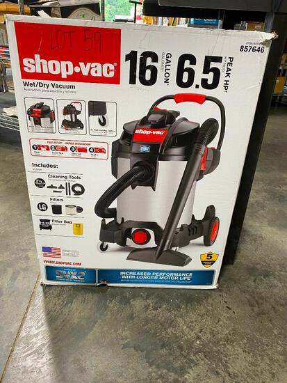 Shop Vac 16 Gallon 6.5HP Wet/Dry Vacuum