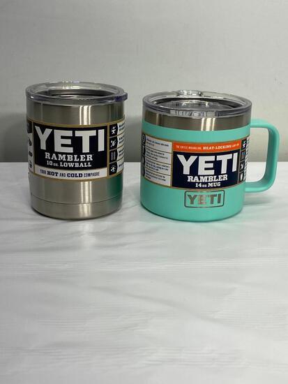 Yeti Rambler 14oz Mug Seafoam, Yeti 10oz Lowball Stainless Steel Rambler