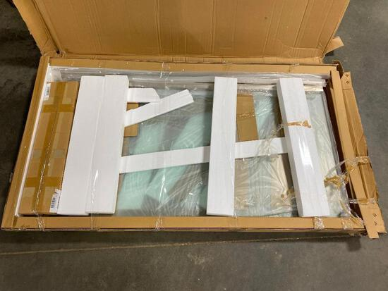Dreamline SHDR-6360600P-04 Glass Shower Door and Frame, NEW