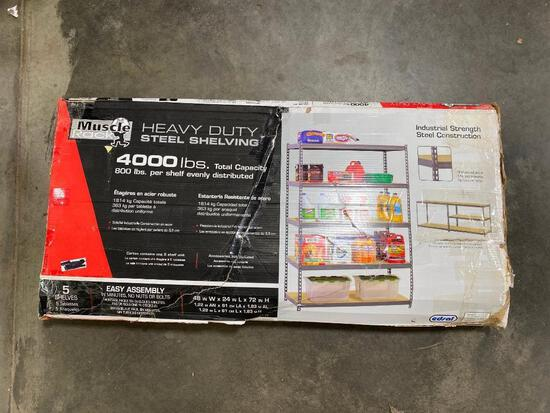 Muscle Rack Heavy Duty Steel Shelving, 4,000lbs Total Capacity, 800lbs/Shelf