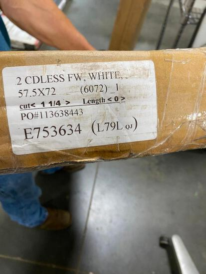 Cordless FW White Blind, 57.5in x 72in