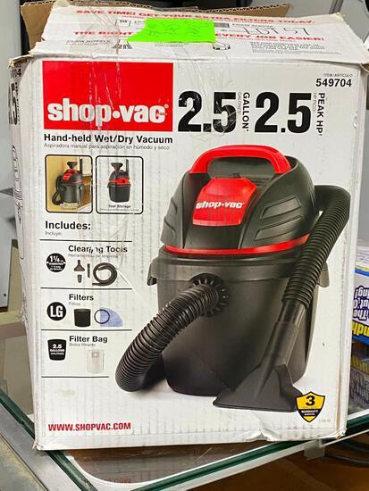 Shop Vac 2.5 Gallon 2.5HP Wet/Dry Vacuum