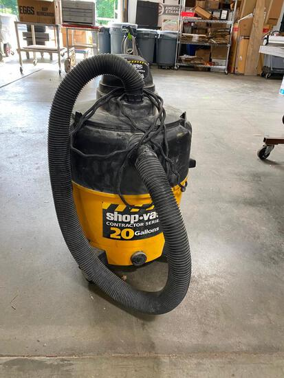 Shop Vac 20 Gallon 6HP Contractor Series Wet/Dry Vac, Works, Used