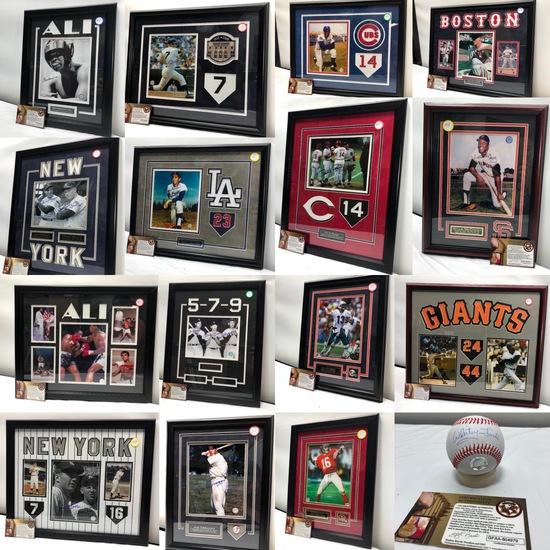 Signed & Framed Sports Memorabilia Auction w/ COA