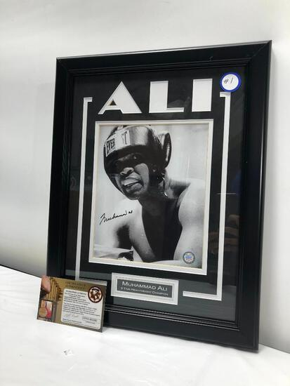 "Muhammad Ali Signed Photograph Framed and Matted Under Glass, 14"" X 18"", Signed C.O.A"