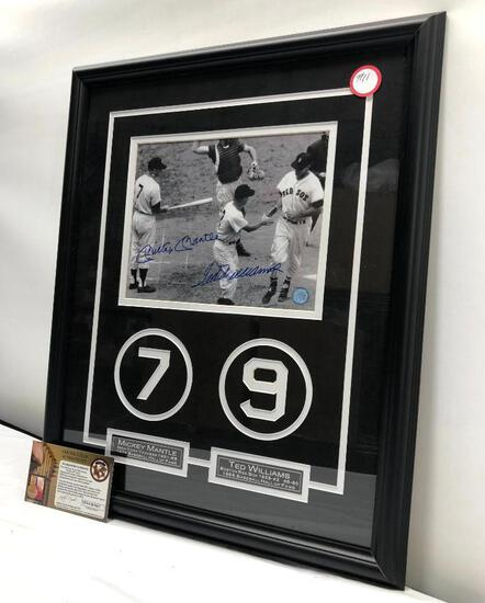 "Mickey Mantle/Ted Williams Signed Photo, Matted & Framed Under Glass, 18"" X 22"", Dual Signed C.O.A"