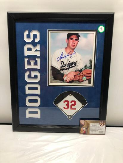 "Sandy Koufax Signed Photograph, 18"" X 22"", Framed and Matted Under Glass, Signed C.O.A"