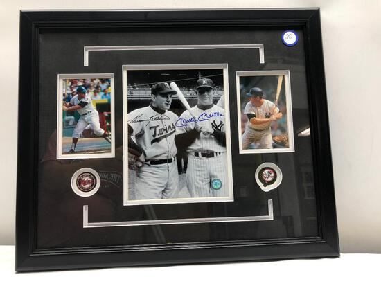 "Mickey Mantle Harmon Killebrew Signed Photograph, Framed Under Glass, Signed C.O.A, 22"" X 18"""