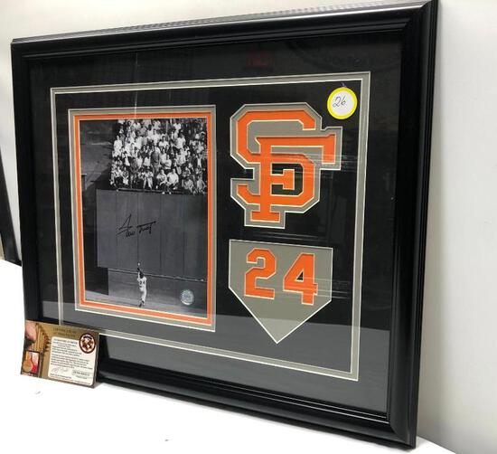 "Willie Mays ""The Catch"" Signed Photograph, Matted & Framed Under Glass, 22"" X 18"", Signed C.O.A"