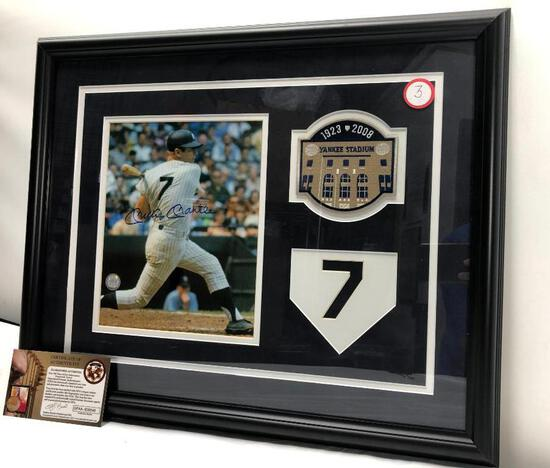 "Mickey Mantle Signed Photograph, Matted and Framed Under Glass, 22"" X 17.5"", Signed C.O.A"