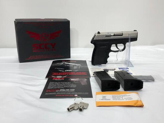 SCCY Model: CPX2 TT Stainless Steel 9mm SN: 372886, with 2 Mags