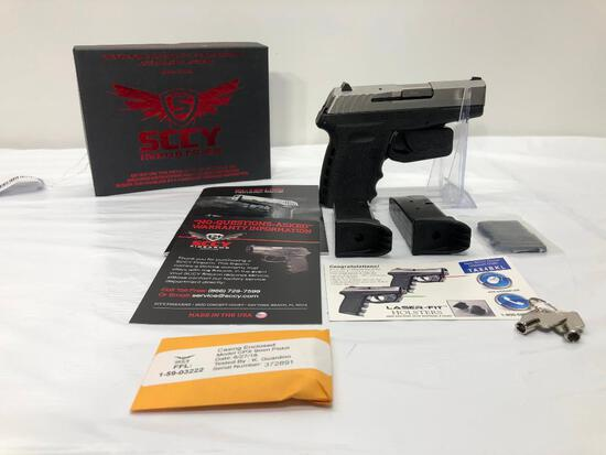 SCCY Model: CPX2 TT Stainless Steel 9mm SN: 372891, with 2 Mags