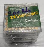 New Ammo: 3 Boxes of Remington Subsonic 22 Long Rifle Hollow Point, 300 Total Rounds