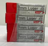 New Ammo: 4 Boxes of 9mm Luger Full Metal Jacket, 115 Grain, 200 Total Rounds
