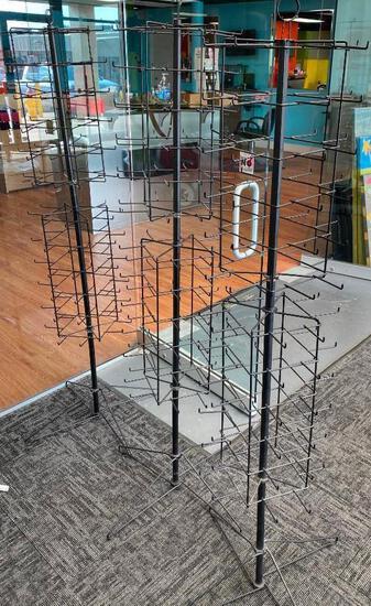 Lot of 3 Rotating Retail Store Displays