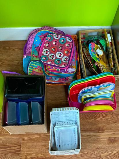 Children Back Packs, Pencil Boxes/ Organizers, Drinking Bottles, Portion Plates