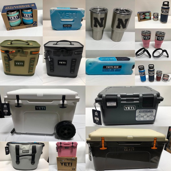 NEW YETI Coolers, Drinkware - Omaha TSG Aug 2nd