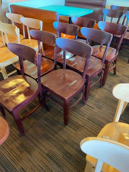 Restaurant Chairs, 7 Solid Wood Restaurant Chairs by AC Furniture Co.