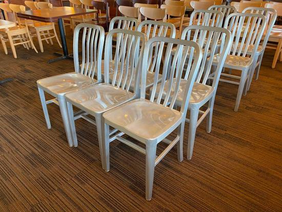 Restaurant Chairs, 6 Aircraft Aluminum Modern Chairs