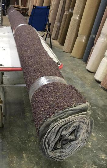New Carpet Remnant Roll: 12ft 6in x 8ft Purple