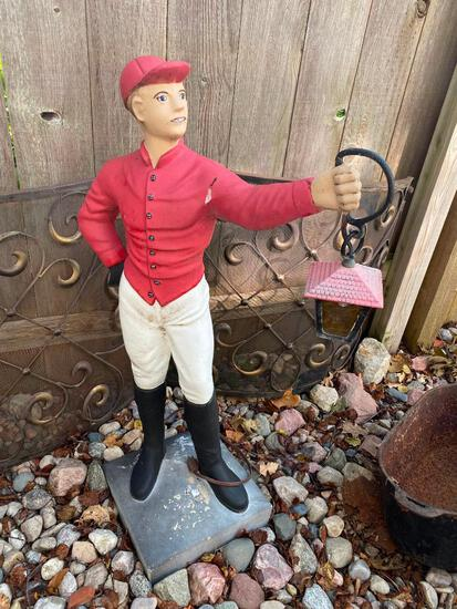 "Lawn Jockey - 43"" Tall - Signed Circa 1954"