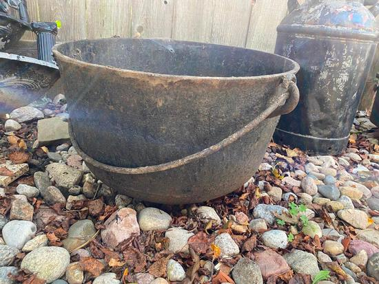 "Cast Iron Cauldron - 14"" Tall x 23"" Wide"