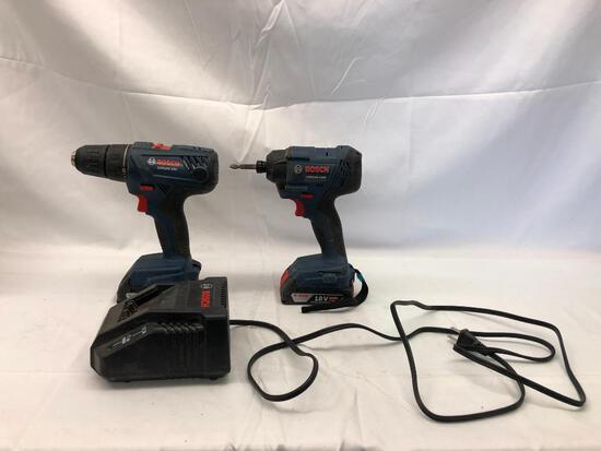 Bosch 18v GSR18V-190 & GDR18V-1400 Impact Drill & Driver