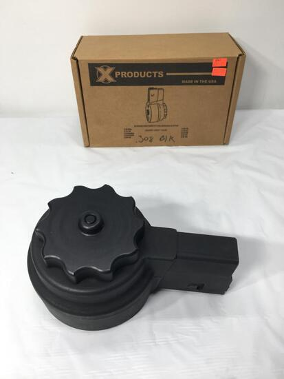X Products X-25 Coil Magazine Capacity 50 Rounds, Cal 7.62x51/ 308 Fits All AR Rifle Exl: Armalite
