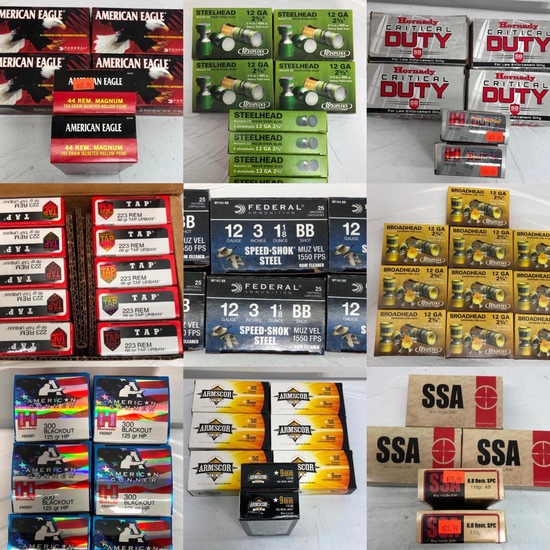New Ammunition, Ammo & Armor - Local Pickup Only