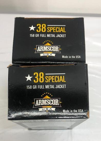 100 Rounds Armscor 38 Special 158GR Full Metal Jacket