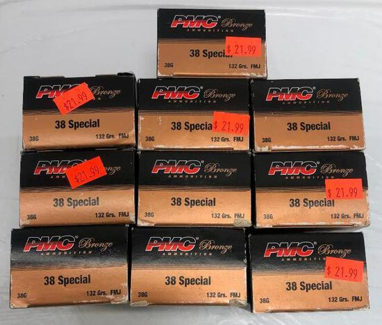 500 Rounds 38 Special PMC Bronze 132 Gr.