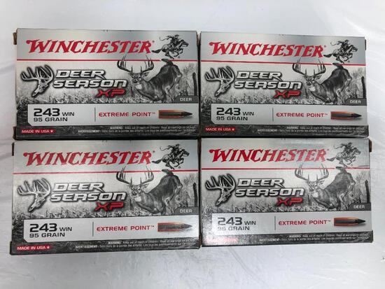 80 Rounds 243 Win 95 Gr. Winchester Deer Season Extreme Point