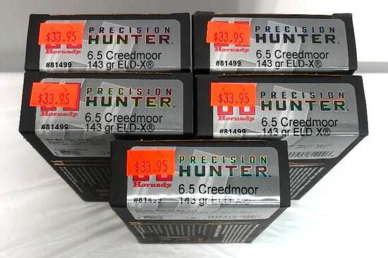 100 Rounds Precision Hunter 6.5 Creedmor 143 gr ELD-X