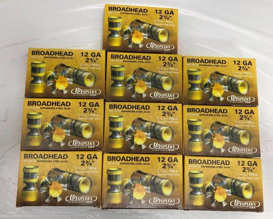 "50 Rounds 12 GA BroadHead 2 3/4"" 1 1/8 oz. 495 Gr."