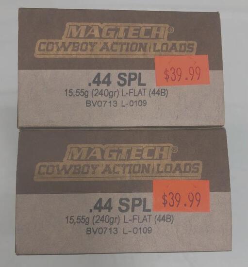 100 Rounds MagTech Cowboy Action .44 Special 240 gr L Flat