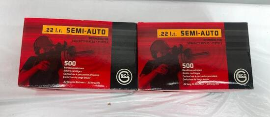1,000 Rounds of New Geco RUAG Ammotec .22 LR Semi-Auto, 2 Boxes of 500