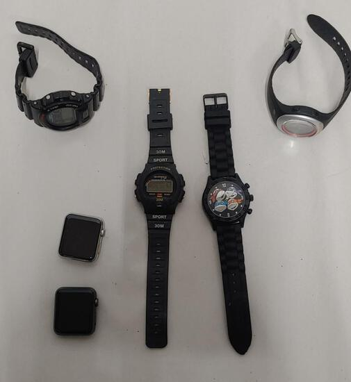 6 Men's Sports watches untested