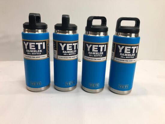 4 Items: YETI Rambler 26oz Bottle, Tahoe Blue